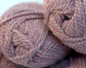 Hand dyed bulky wool yarn