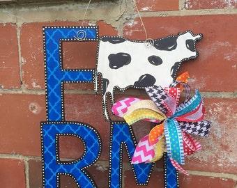 Farm COW Door Hanger - Door Decor