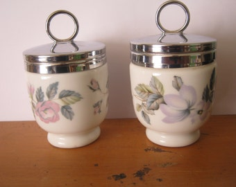 2 Royal Worcester Egg Coddlers  June Garland Design