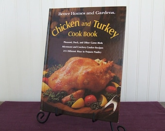 Better Homes and Gardens Chicken and Turkey Cookbook, Vintage Cookbook, 1976