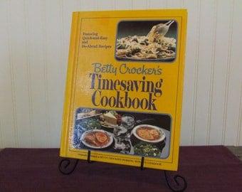 Betty Crocker's Timesaving Cookbook, Vintage Cookbook, 1982