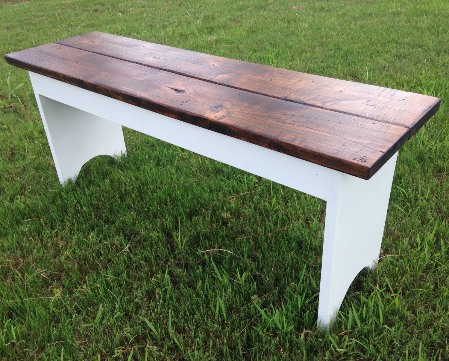 Reclaimed Wood Bench Rustic Bench Distressed Wood Bench