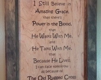 The Old Rugged Cross Photo Frame