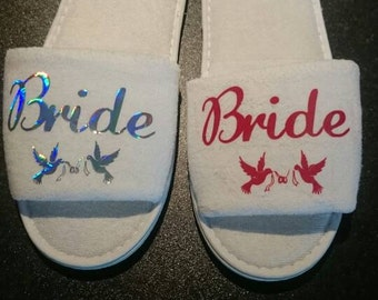 Bride/Groom/Bridesmaid slippers