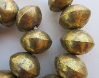 Large Brass Bicone Beads (26-28x20-22mm) [64705]