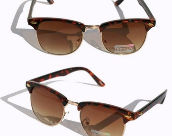 Vintage Style Clubmaster Sunglasses