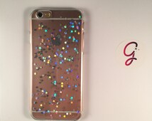 Millennium Star Diamond Silver holographic stars Brandy Melville iPhone 6+ 6 5s, SE 5c 5 4s 4 phone case Samsung S5 S4 S3 phone case glitter