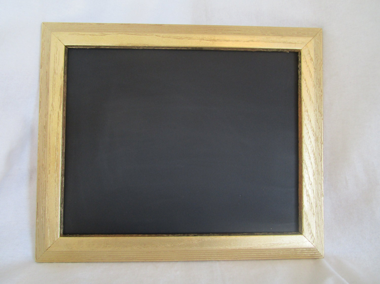 gold frame chalkboard 8 x 10 chalkboard 8x10 gold frame. Black Bedroom Furniture Sets. Home Design Ideas