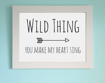 Instant download Wild Thing printable wallart