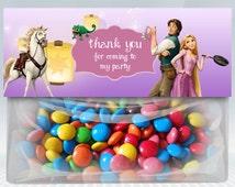 Rapunzel tangled favor bag topper treat candy party Disney's Disney birthday custom Dusty Boys Girls boy party Printable DIY Girl Rapunzel