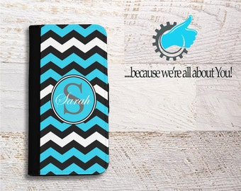 Chevron iPhone Wallet Case, iPhone card holder,Monogram wallet case, Initials iPhone case,Girlfriend gift,Travel phone case,Can Change color