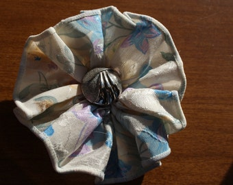 Beautiful Multi Colored Fabric Flower Clip