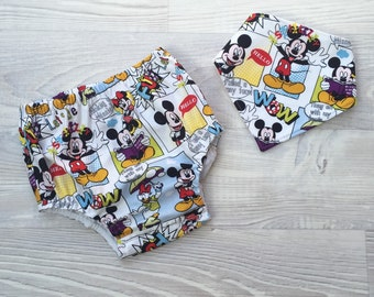 Boy Nappy Cover & Dribble Bib Set - size 1