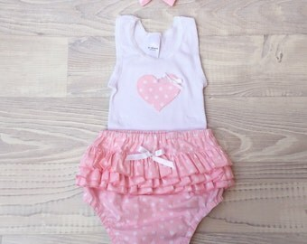 Girl Ruffle Nappy Cover Set - size 1