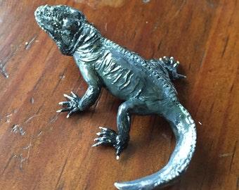 Rhino iguana figurine.