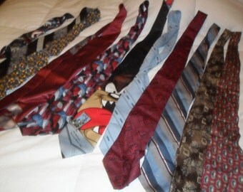 Old Ties for sewing Project