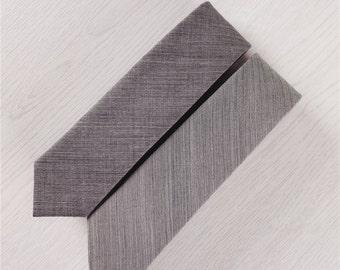 deep gray wool necktie.skinny neckties.mens wool ties.pure color ties.boys neckties.ties for gift+nt225