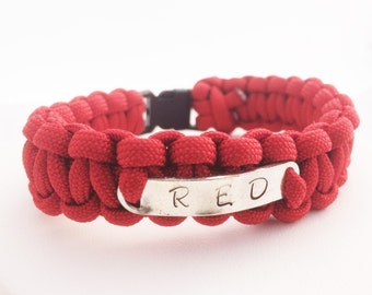 Remember Everyone Deployed R.E.D. Friday paracord bracelet Support our Troops Military Support Deployment Gift