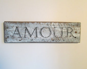 Amour wood sign barn wood