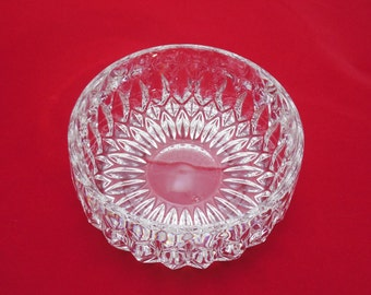 "Vintage Pressed Clear Glass Bowl  5 1/2"" Wide, Vintage Pressed Glass, Holiday Serving Bowl, Beautiful Clear Glass Bowl"