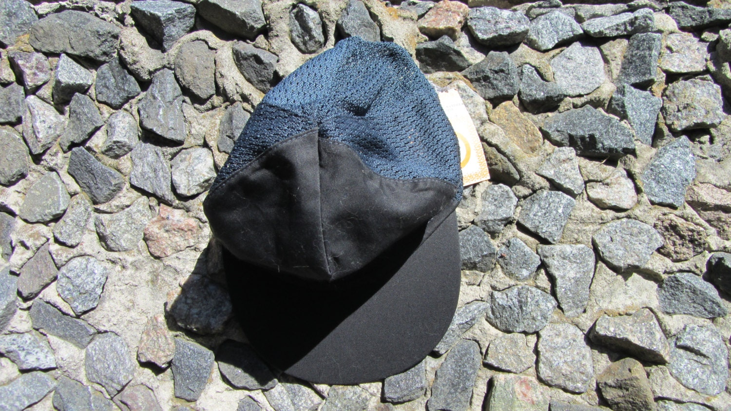 Black made in USSR Baseball Cap, low profile baseball cap with self fabric touch