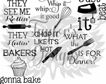 kitchen wall sayings SVG file
