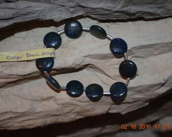 Copper Blue Jasper Stretchy Bracelet