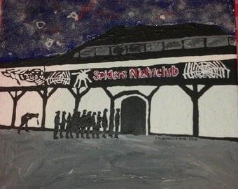 Spiders Nightclub , Hull, original acrylic painting painted to order