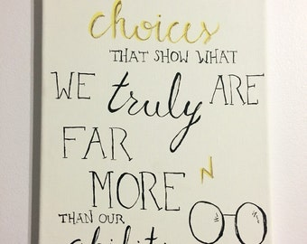 """Dumbledore """"It is our choices..."""" Quote Canvas"""