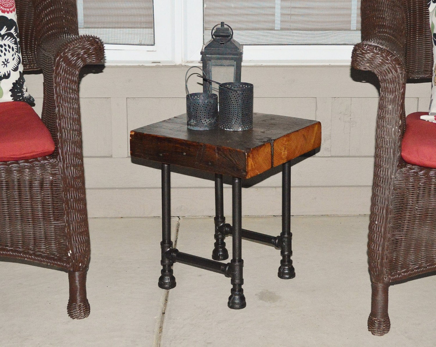Reclaimed Barn Wood Accent End Table