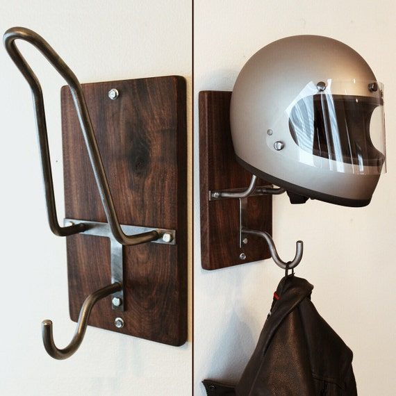 motorcycle helmet rack jacket hook. Black Bedroom Furniture Sets. Home Design Ideas