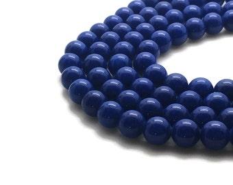 6mm Mashan Jade Beads Blue Round 6mm Mashan Jade 6mm Jade Blue Jade 6mm Beads Blue Candy Jade 6mm Blue Beads 6mm Mountain Jade