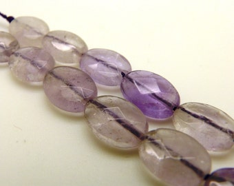14x10x5mm Faceted Oval Amethyst Beads, Oval Amethyst, Amethyst, Amethyst Beads, Beads, Oval