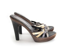 Vintage sandals. Slingbacks. Open back sandals. Samantha & Lynette Brazilian Carnival. Women's size 7.
