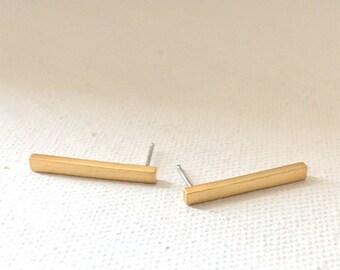 Bar(long) Stud Earring