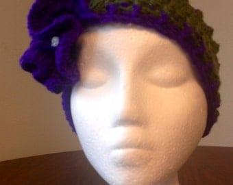 Crochet ruffle flower