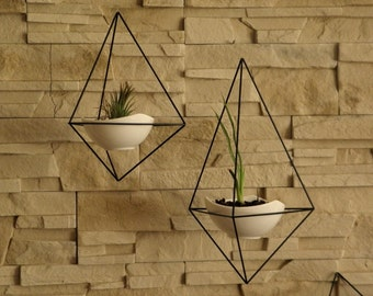 Wall hanger air plant himmeli diamond mobile by jeremibyaga for Air plant wall hanger