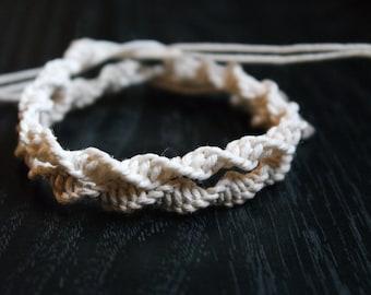 Spiral Hemp Macrame Bracelet - Tie On