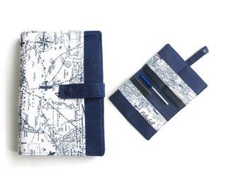 Family passport holder  - world map blue white -  4 ( 5 ) passports, cards pockets, pencil, boarding pass , wallet
