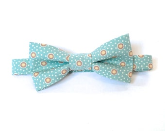 Duck egg blue bow tie