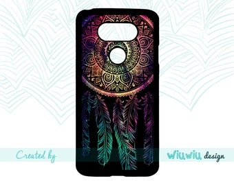 Dreamy Mandala Dreamcatcher black and Cosmos colors amazing art phone case for lg phone cover for lg g6 / lg g5 / lg g4 / lg g3 phones