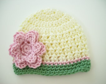 Crochet Baby Hat, Baby Girl Hat, Newborn Beanie, Baby Girl, Toddler Hat, Newborn Hat, Newborn Photo Prop, Baby Shower Gift, Newborn Baby Hat