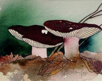 Art Card; Shrimp Russula