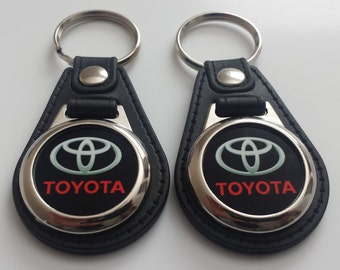 TOYOTA KEYCHAIN  2 pack red