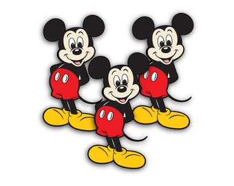24 Mickey Mouse Die Cuts • Embellishments • Disney Birthday Patry Decoration • Cupcake Topper • Srcapbooking • Confetti