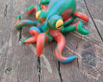 rainbow octopus figurine