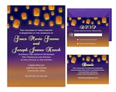 Fairy Tale Weddings - Glowing Lanterns - Inspired by Disney's Tangled - Rapunzel - Edit and Print at home in Adobe