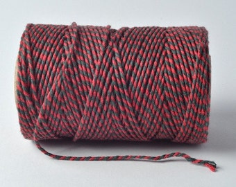 Red & Green 2mm 100% Cotton Bakers Twine by James Lever