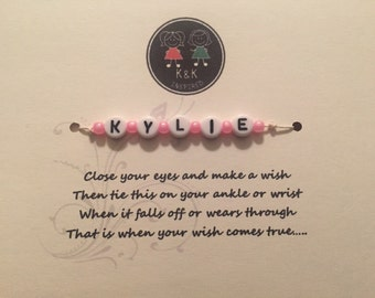 Personalized wish bracelet