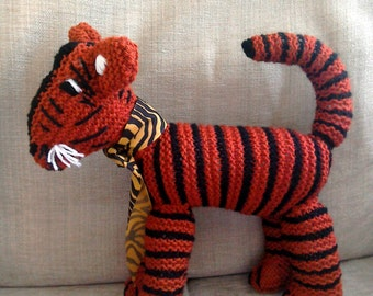 Stripe the Tiger Hand Knitted Toy